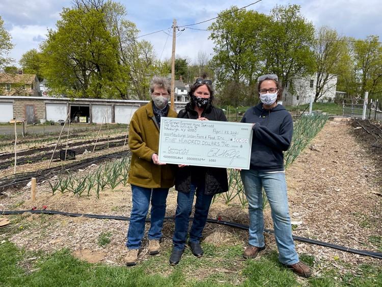 Newburgh Urban Farm & Food Receives $500 Donation From GGEHS