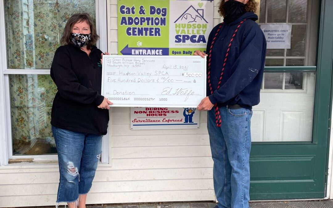 GGEHS Donates $500 To Fur Friends At Hudson Valley SPCA